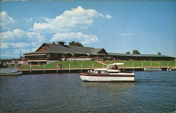 The Pioneer Inn Marina on Ki Ni Island Oshkosh, WI Postcard