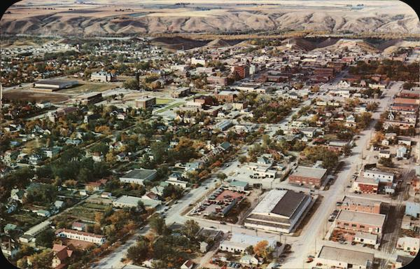 An Aerial View Looking West Lethbridge Canada Alberta