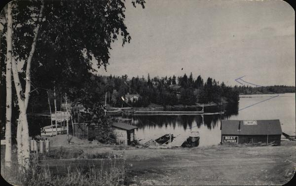 Dock area of Frank's General Store Sioux Narrows Canada