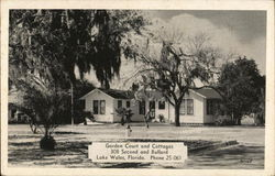 Garden Court and Cottages Postcard
