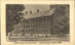 Church Family Dwelling House at Shaker Village Postcard