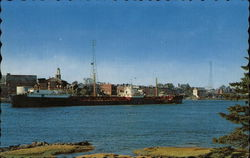 Tanker in the Piscataqua River Postcard
