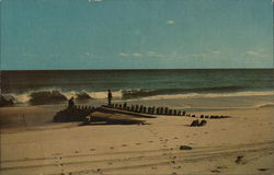 Old Wreck on the Beach, Cape Cod Postcard