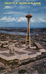 Aerial View of Fair and Space Needle