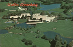 Walter Annenberg Mansion and Golf Course Postcard