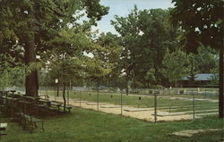 City Park - Home of 1962 World's Championship Horseshoe Tourney Greenville, OH Postcard