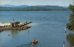 Endicott Rock, Lake Winnipesaukee Postcard