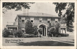Illinois Cottage No. 1 - VFW National Home Postcard