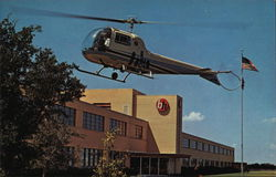 Fort Worth Built Helicopters Postcard