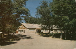 Shawano County Park Pavilion at Shawano Lake Postcard