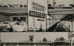 Hickory House Motel, Restaurant, Gift Shop and Filling Station Postcard