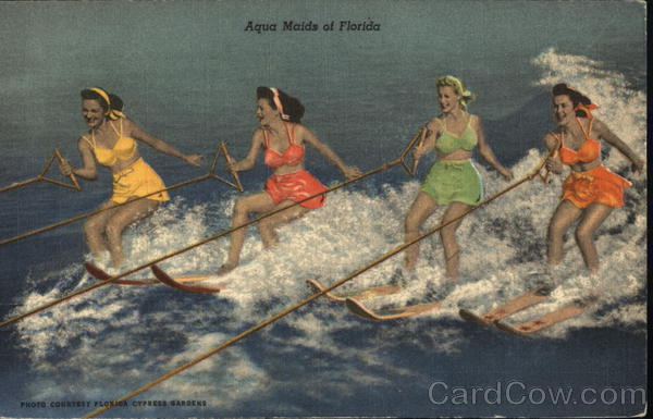 Aqua Maids of Florida Cypress Gardens Surfing and Waterskiing