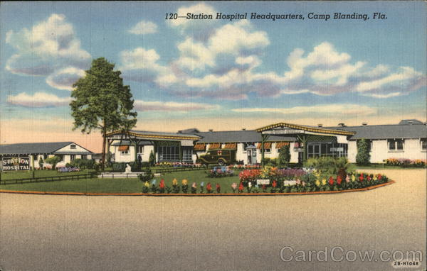 120-Station Hospital Headquarters, Camp Blanding, Fla. Jacosonville Florida