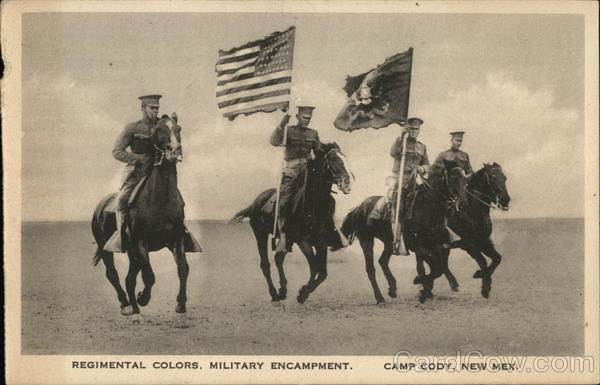 Regimental Colors, Military Encampment Camp Cody New Mexico