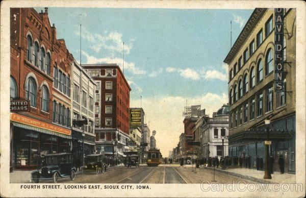 Fourth Street, Looking East, Sioux City, Iowa