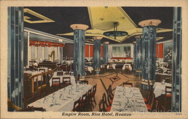 Empire Room, Rice Hotel Houston Texas