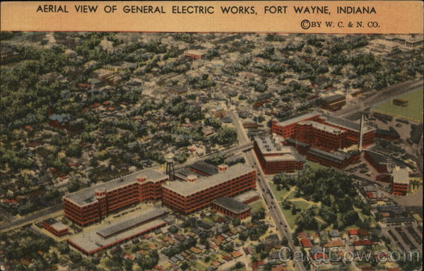 Aerial View of General Electric Works Fort Wayne Indiana
