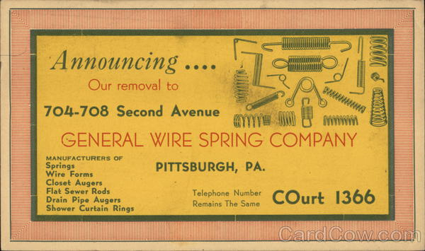 General Wire Spring Company Pittsburgh Pennsylvania