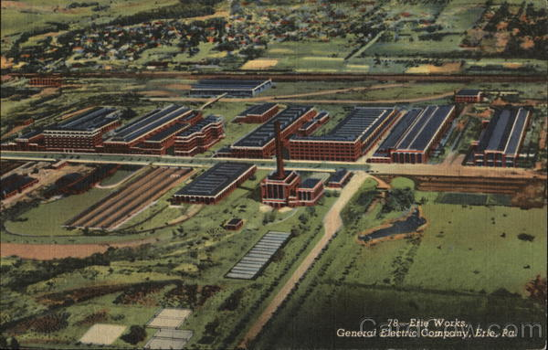 New Motors Erie Pa >> Aerial View of Works, General Electric Company Erie, PA ...