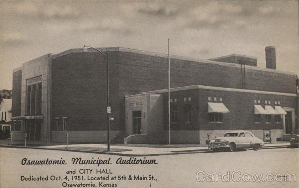 Osawatomie Municipal Audiorium and City Hall Kansas