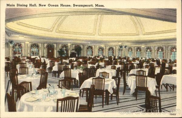 Main Dining Hall at New Ocean House Swampscott Massachusetts