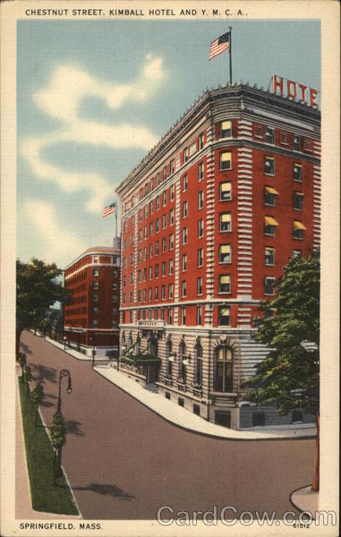 Chestnut Street, Kimball Hotel and Y.M.C.A. Springfield Massachusetts