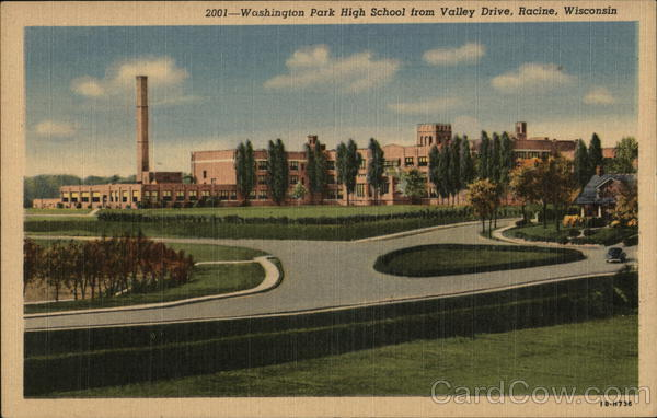 Washington Park High School From Valley Drive Racine Wisconsin