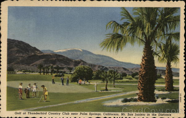 golf at thunderbird country club palm springs ca postcard