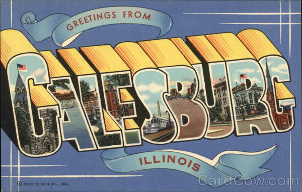 Greetings from Galesburg Illinois Large Letter