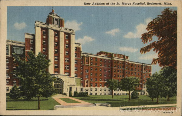 New Addition of the St. Marys Hospital Rochester Minnesota