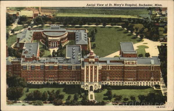 Aerial View of St. Mary's Hospital Rochester Minnesota
