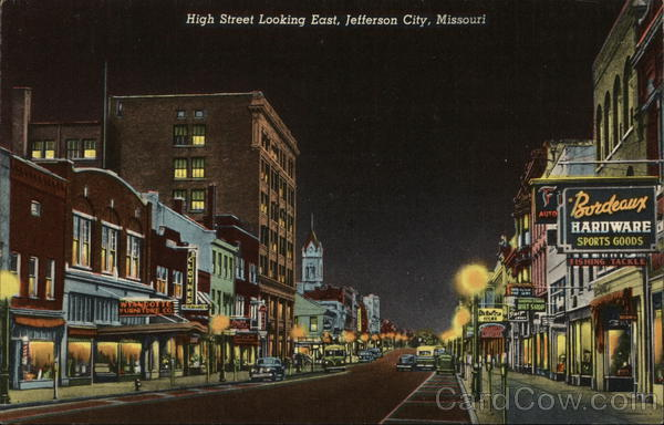 High Street Looking East Jefferson City Missouri