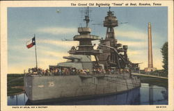 "The Grand Old Battleship ""Texas"" at Rest"