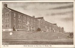 Brick Barracks at Fort Geo. G. Meade, Md.