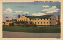 Service Club No. 2, Camp Campbell Postcard