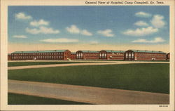 General View of Hospital, Camp Campbell Postcard