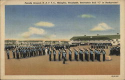 "Parade Ground, N.A.T.T.C., Recreation Hall ""C"" in Background"