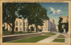 Virginia Military Institute - South View of Barracks Postcard