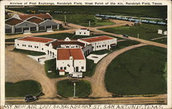 Airview of Post Exchange Postcard