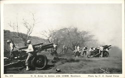 U.S. Army in Action with 105MM. Howitzers