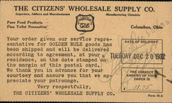 The Citizens' Wholesale Supply Company