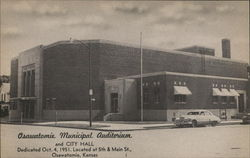 Osawatomie Municipal Audiorium and City Hall Postcard