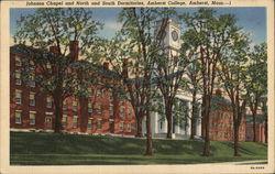 Johnson Chapel and North and South Dormitories, Amherst College