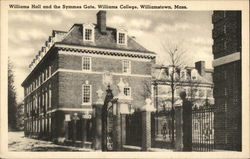 Williams Hall and the Symmes Gate at Williams College