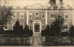 View of Hospital Building Postcard