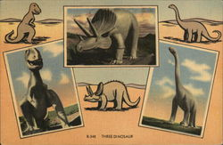 Three Dinosaur Postcard