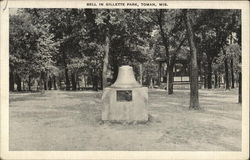 Bell in Gillette Park Postcard