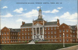 Administration Building, Veterans' Hospital Postcard