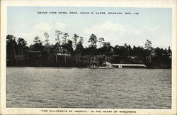 Grand View Hotel Dock, Chain O' Lakes