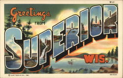 Greetings From Superior, Wis. Postcard
